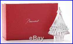 BACCARAT FRANCE NOEL FIR TREE MILLE NUITS CRYSTAL designed Mathias candle BOX