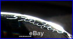BIG NEW in BOX STEUBEN glass BUBBLE TREE 18K GOLD diamond STAR ornament Xmas