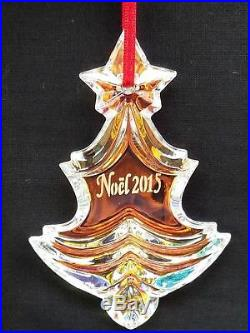 Baccarat 2015 Iridescent Ornament Noel Christmas New Crystal Box Annual Tree NEW