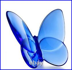 Baccarat 2102546 Lucky Butterfly Crystal Blue