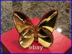 Baccarat 2105932 Lucky Butterfly Crystal Gold