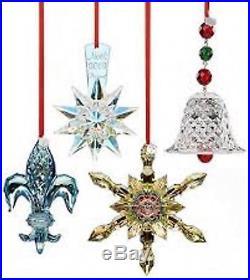 Baccarat Crystal 2013 Fleur De Lys Christmas 4 Ornament Pendant MIB 2804705