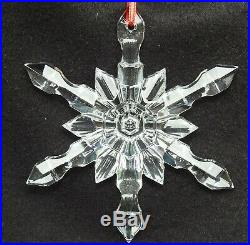 Baccarat Crystal Clear Snowflake Christmas Tree Hanging Ornament New in Box