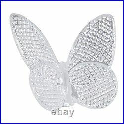 Baccarat Crystal Diamond Pattern Butterfly