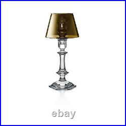 Baccarat Crystal Harcourt Our Fire Candlestick Gold Philippe Starck