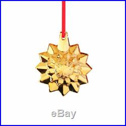 Baccarat Crystal Noel 2019 Christmas Snowflake Ornament Gold 2.5 H Brand New