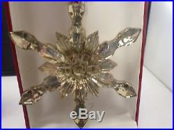 Baccarat Crystal Noel Gold Snowflake Ornament 2015 Christmas Season NIB