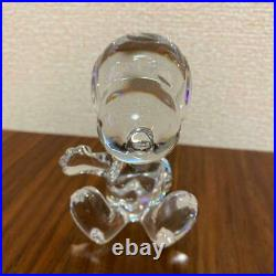 Baccarat Crystal Snoopy Figurine Welcome peanut ornament Glass