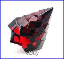 Baccarat Megeve Ruby Crystal Glass Christmas Tree Made In France