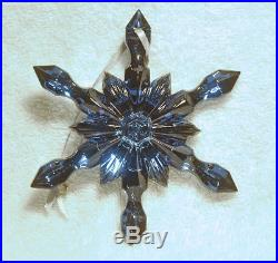 Baccarat Noel Blue Snowflake Christmas Ornament French Crystal 2810281 NEW