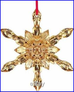 Baccarat Noel Gold Snowflake Ornament 2017 French Crystal New In Box Sku 2811191