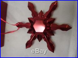 Baccarat Noel Red Snowflake Christmas Ornament French Crystal 2808330 New In Box