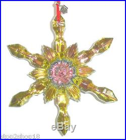 Baccarat Noel Yellow Snowflake Christmas Ornament French Crystal 2804665 New