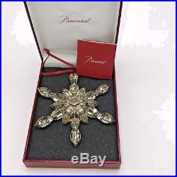 Baccarat Ornament 2809184 French Crystal Snowflake Christmas Lead Crystal