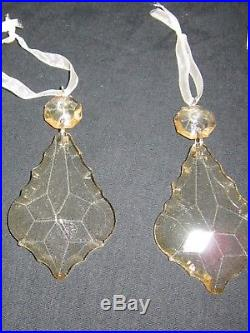 Balsam Hill Gold Crystal Christmas Tree Ornaments (24)
