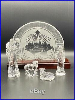 Beautiful 16-piece Waterford Crystal Nativity Set Ireland Christmas MINT In Box