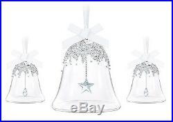 Bell Ornament Set (annual + 2 Little Bells) 2016 Xmas Swarovski Crystal #5223283