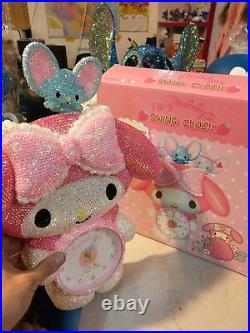 Bling My Melody Crystal Diamond Wall Clock! Best Decoration! Best Gift