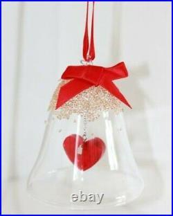 Bnib Swarovski Crystal Christmas Bell Ornament Red Heart Ltd Edition 2019