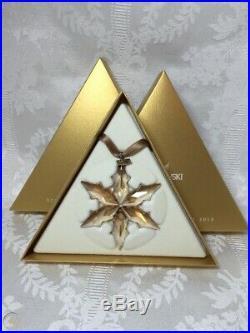 Bnib Swarovski Crystal Christmas Ornament Annual Edition Scs Gold Star 2015