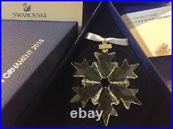 Bnib Swarovski Crystal Christmas Ornament Annual Edition Snowflake Star 2018