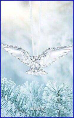 Brand New In Box Swarovski Crystal Christmas Peace Dove Ornament Figurine 2018