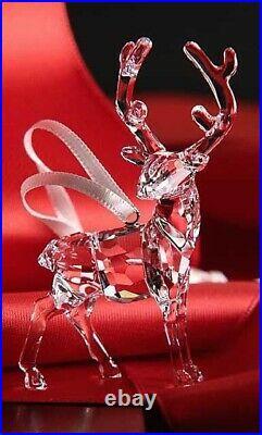 Brand New In Box Swarovski Crystal Christmas Stag Ornament Figurine 2017