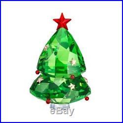 Brand New In Box Swarovski Crystal Green Christmas Tree Ornament Figurine
