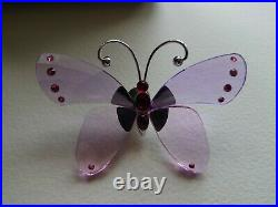 Brand new SWAROVSKI PARADISE ACARA VIOLET BUTTERFLY LILAC boxed, cert, stand