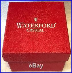 C. 2000 WATERFORD Annual CASED COBALT CRYSTAL BALL Christmas Ornament NOS