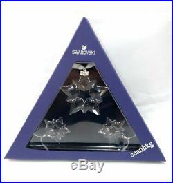 CHRISTMAS SET 2019, 1 Large 2 Small Snowflake Swarovski Crystal MIB 5429600