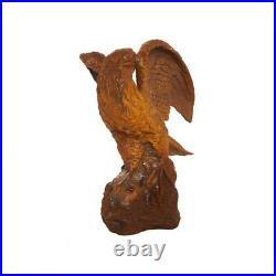 Cast Iron Rust Proud Eagle Statue/Crystal Palace/Garden Ornament/Bird Feature