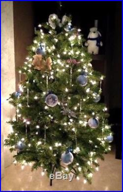 Christmas Glass Ornaments 72 Clear Crystals Ice Adorns Décor Xmas Tree Icicles