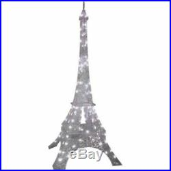 Christmas Home Outdoor 7' Tall Decoration Crystal Eiffel Tower Sparkling Décor