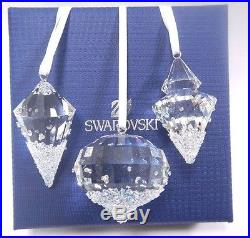 Christmas Ornaments (set Of 3) 2016 Xmas Holiday Swarovski Crystal 5223618