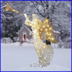Christmas Outdoor Decoration Angel Crystal Decor Lighting Yard Patio Garden Home