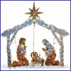 Christmas Outdoor Nativity Scene 72 Crystal Yard Holiday LED Light Decoration