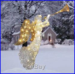 Christmas Outdoor Ornament Crystal Angel Lawn Decoration Lighted Festve Figurine
