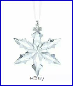 Christmas SWAROVSKI 2015 Snowflake Large Ornament Annual Crystal 5099840 Rare