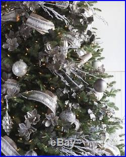 Christmas Tree Crystal Palace Glass Baubles Set, 35pcs, Balsam Hill, Decorations
