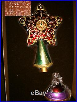 Color Star Finial Swarovski Crystals Tree Topper Jay Strongwater Christmas NIB