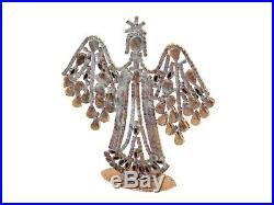 Czech crystal clear rhinestone angel Christmas tree ornament decoration