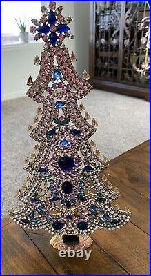 Czech vintage crystal/rhinestone Christmas tree
