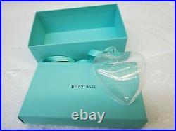 DISCONTINUED Tiffany & Co. Crystal Glass Return to Tiffany Heart Ornament NEW