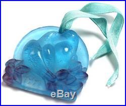 Daum 2 Doves Kissing 1991 Pate De Verre Glass Crystal Christmas Ornament De Noel