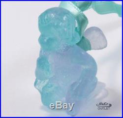 Daum Kneeling Angel Angelot A Genoux Pate De Verre Crystal Christmas Ornament