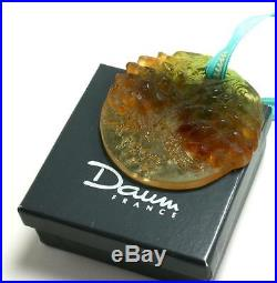 Daum Pine Cone 1992 Pate De Verre Glass Crystal Christmas Ornament De Noel