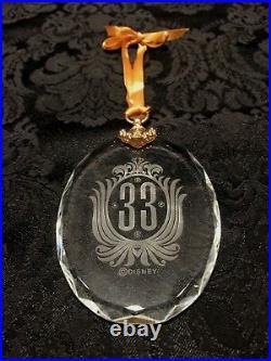 Disney Club 33 Logo 2013 Holiday Crystal Tree Ornament NIP RARE