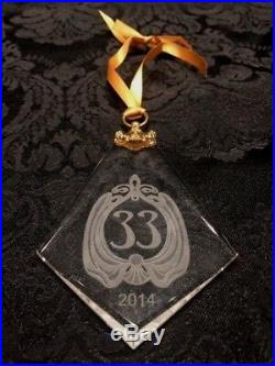 Disney Club 33 Logo 2014 Holiday Crystal Tree Ornament NIP