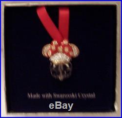 Disney Minnie Swarovski Crystal Christmas Ornament Nib